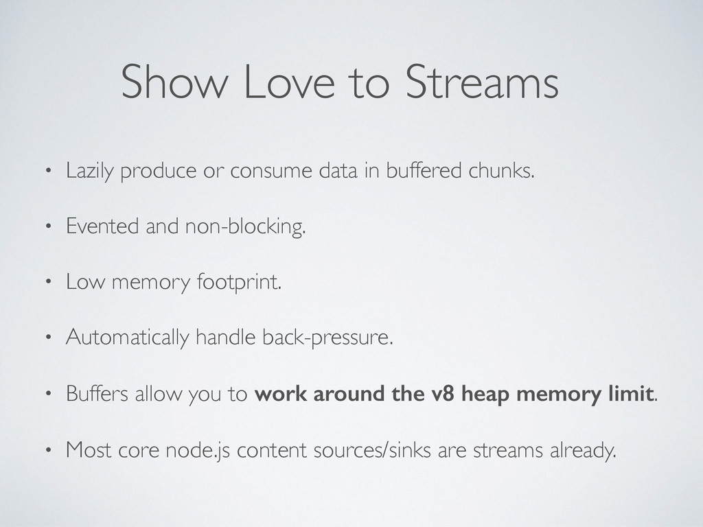 • Lazily produce or consume data in buffered ch...