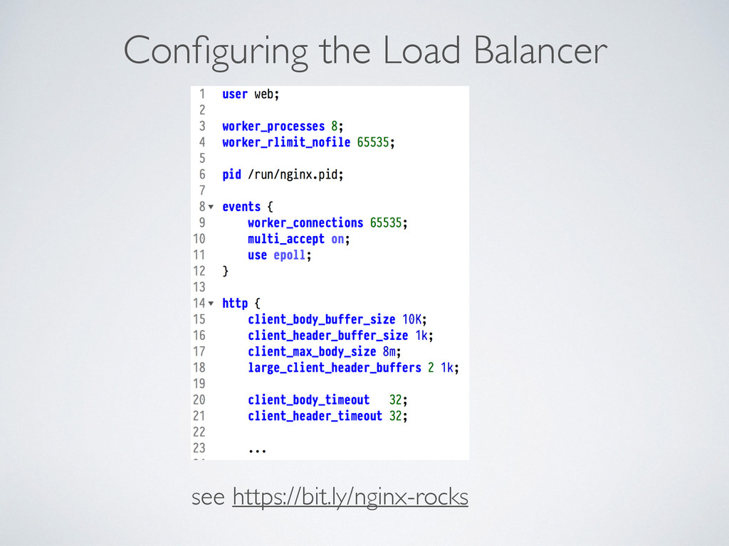 Configuring the Load Balancer see https://bit.ly...