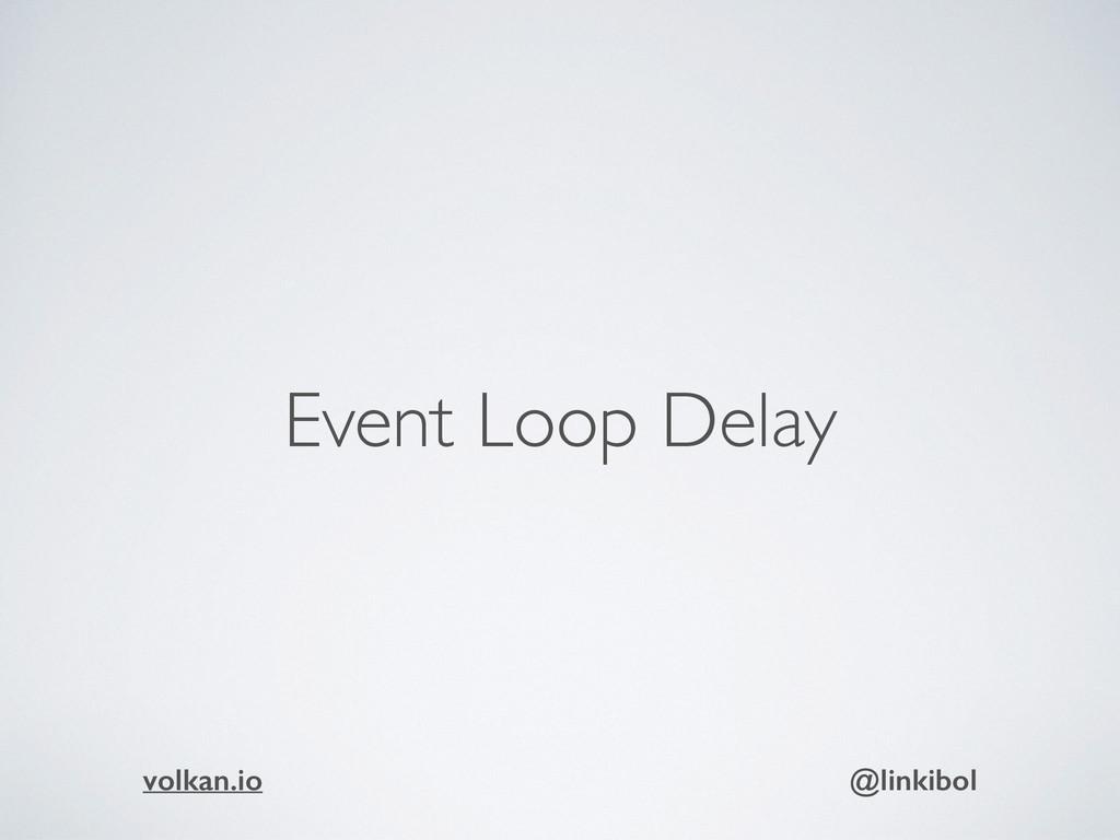 Event Loop Delay volkan.io @linkibol