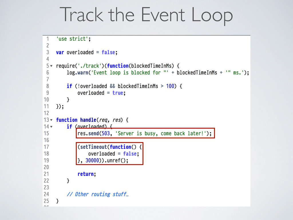 Track the Event Loop