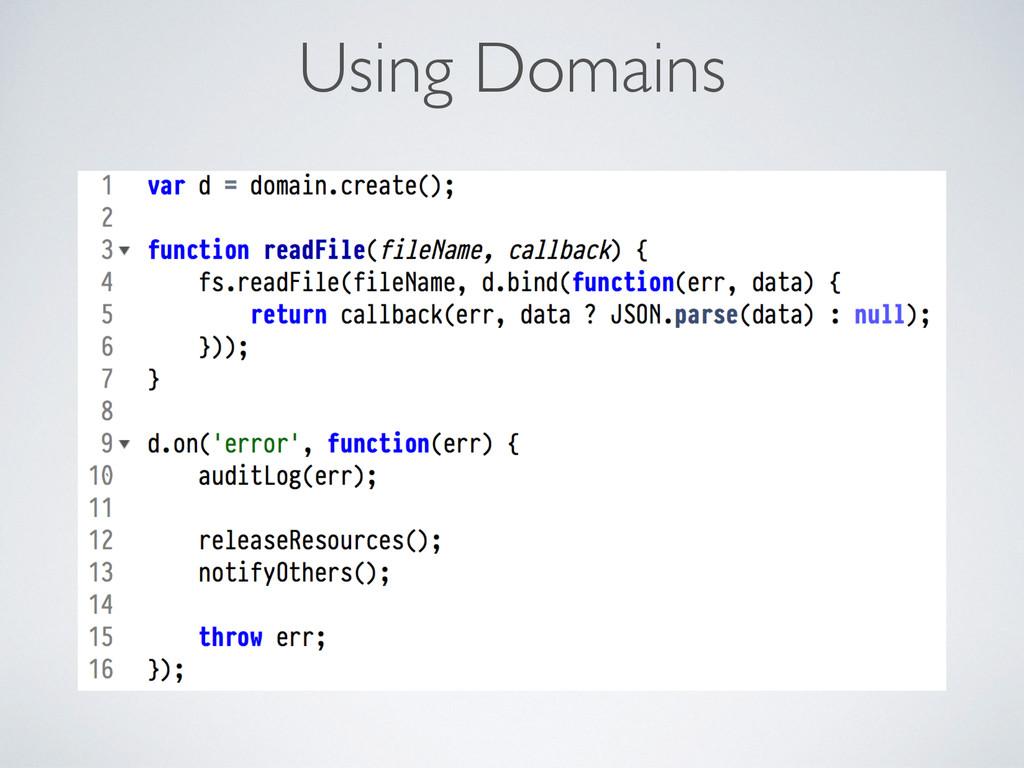 Using Domains