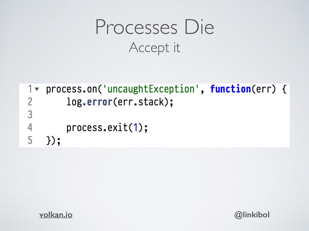 Processes Die Accept it volkan.io @linkibol