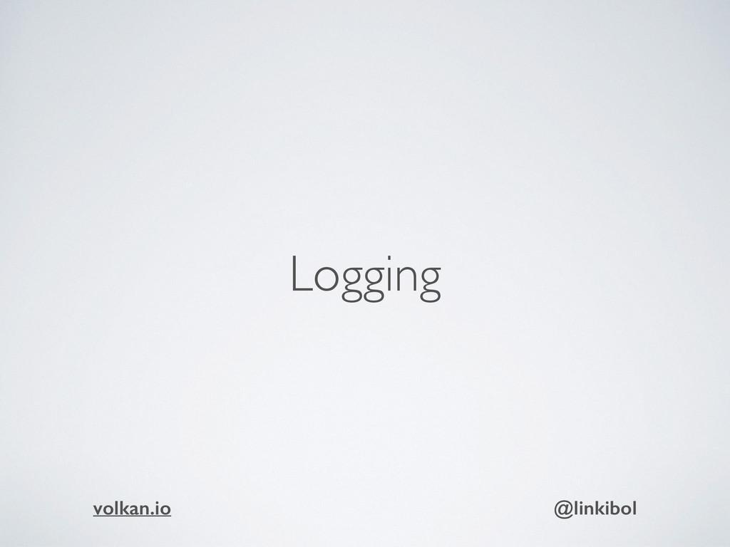 Logging volkan.io @linkibol