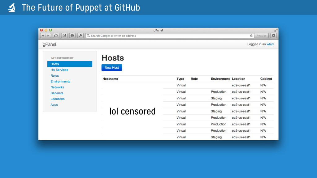 The Future of Puppet at GitHub  lol censored