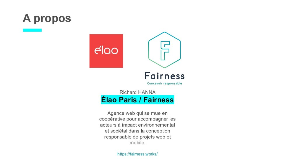 A propos Richard HANNA Élao Paris / Fairness Ag...