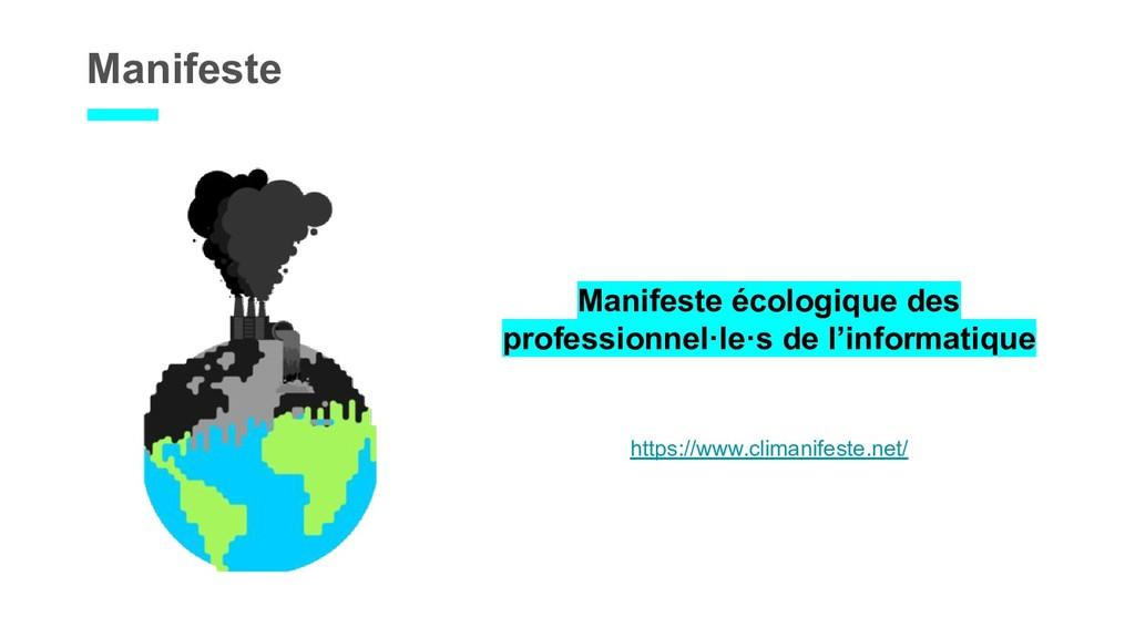 Manifeste Manifeste écologique des professionne...
