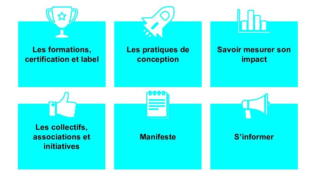 Les formations, certification et label Les prat...