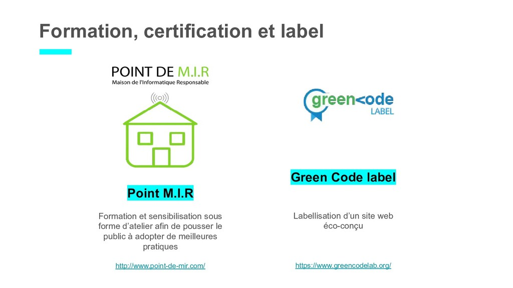Formation, certification et label Point M.I.R F...