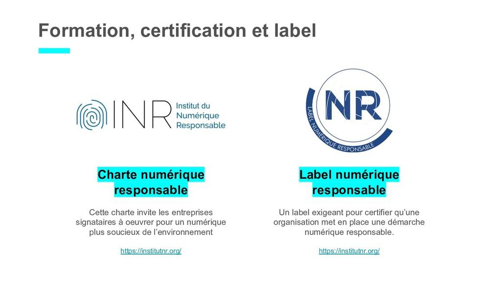 Formation, certification et label Label numériq...