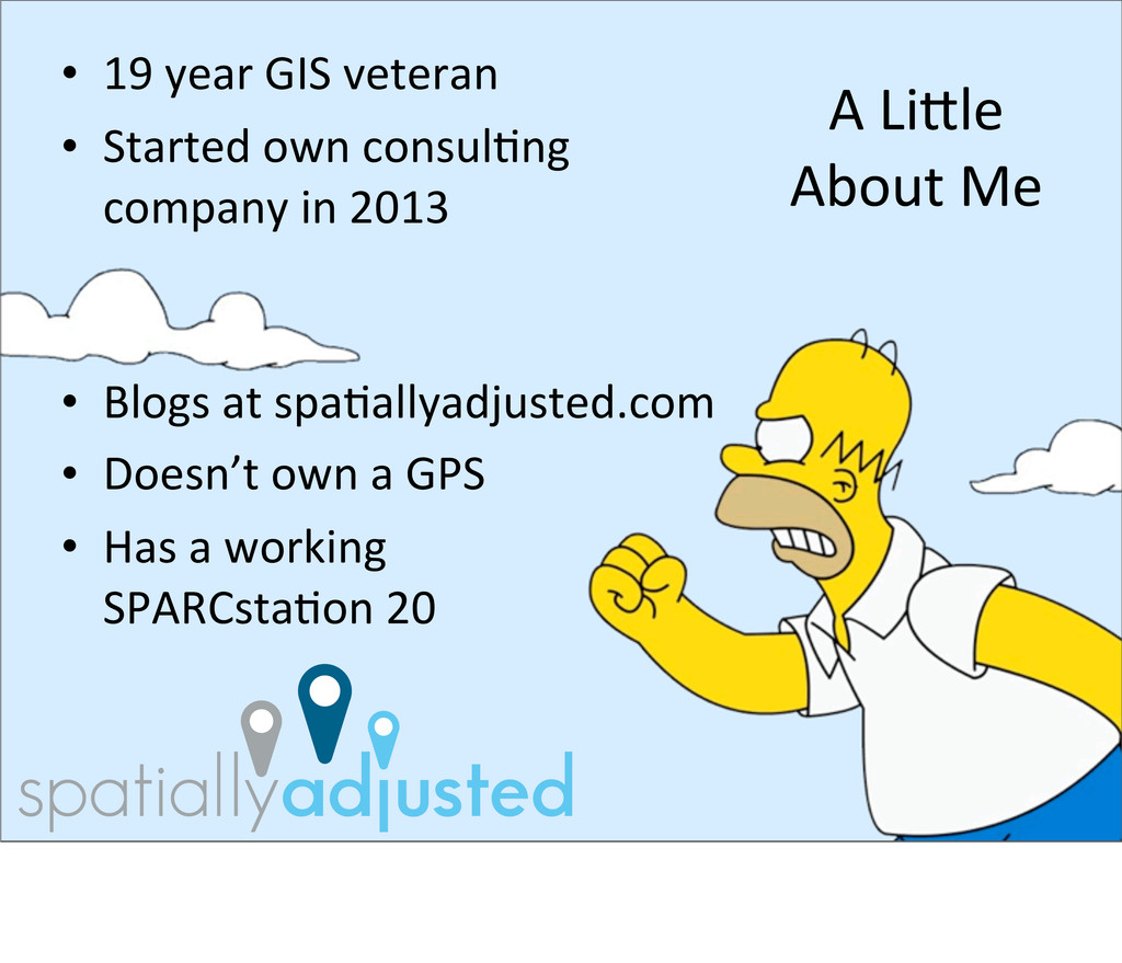 • 19 year GIS veteran • Started own...