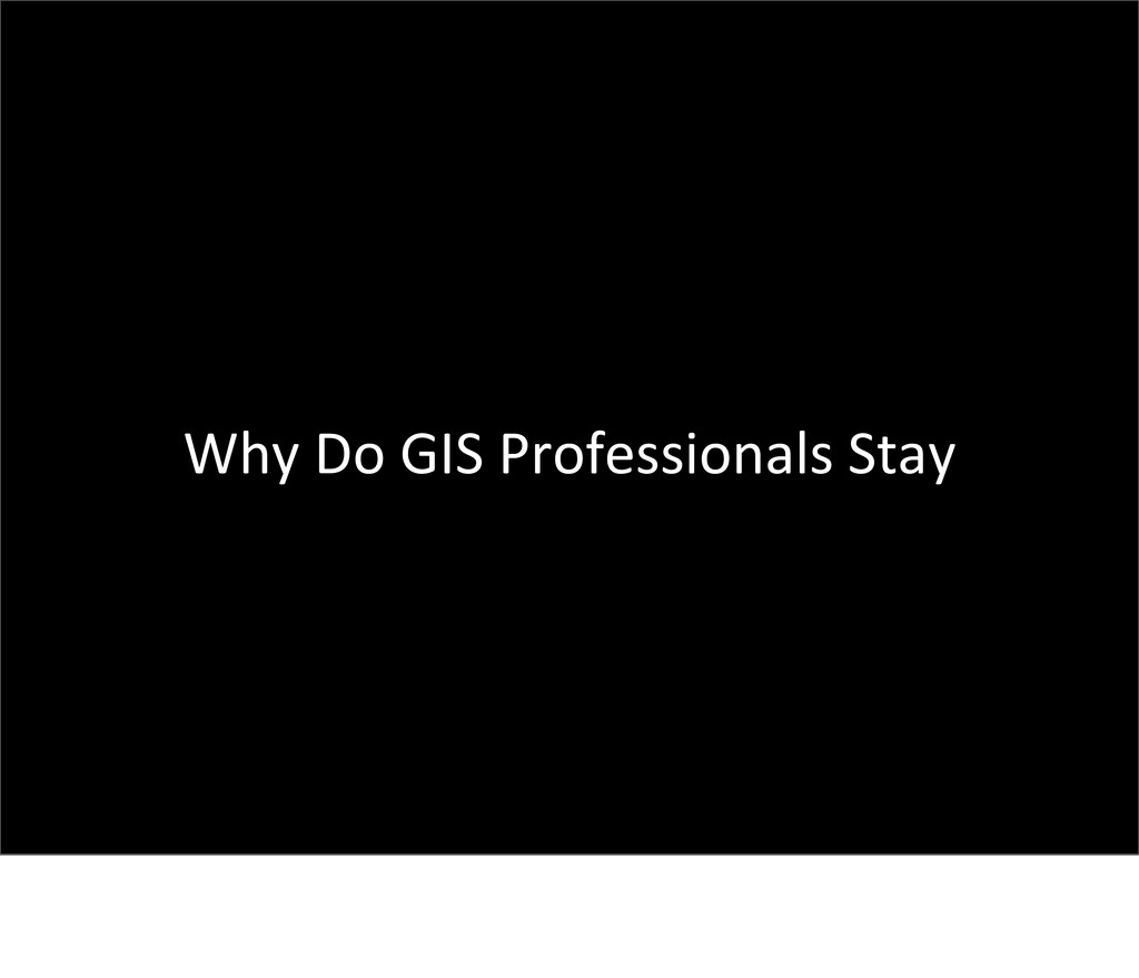 Why Do GIS Professionals Stay