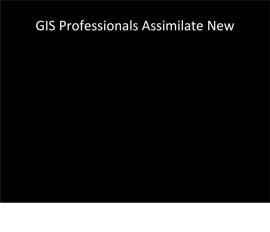 GIS Professionals Assimilate New