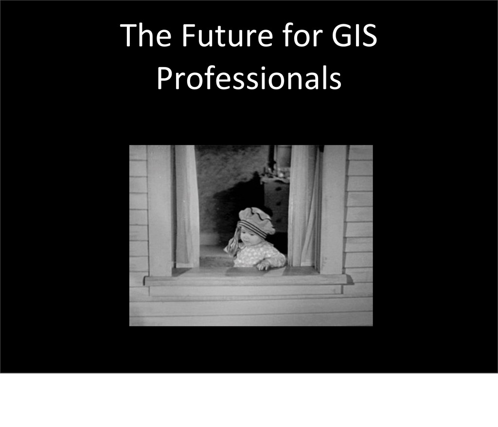 The Future for GIS  Professionals