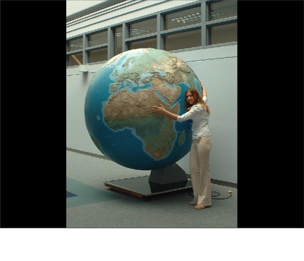 So go out and hug a globe ...