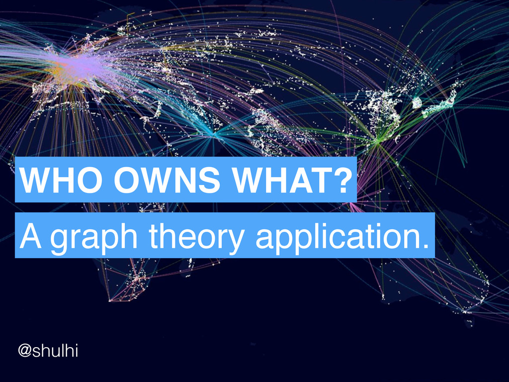 WHO OWNS WHAT? A graph theory application. @shu...