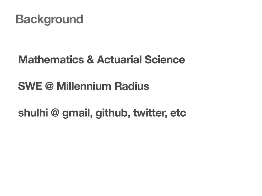 Background Mathematics & Actuarial Science SWE ...
