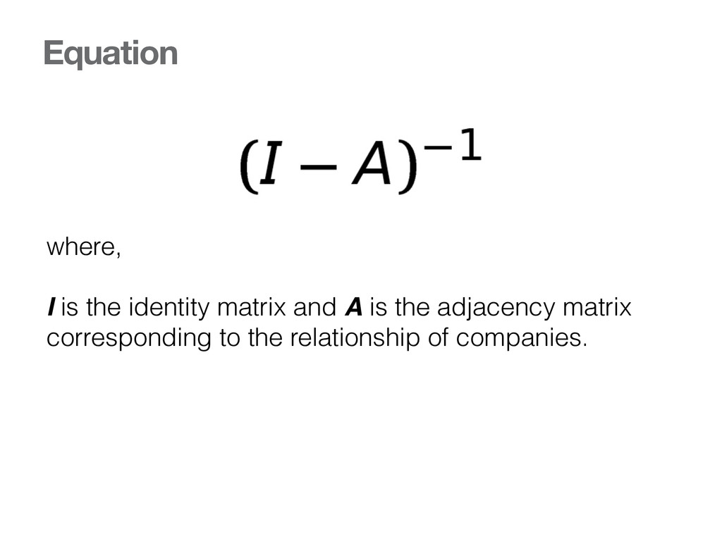 Equation where, I is the identity matrix and A ...