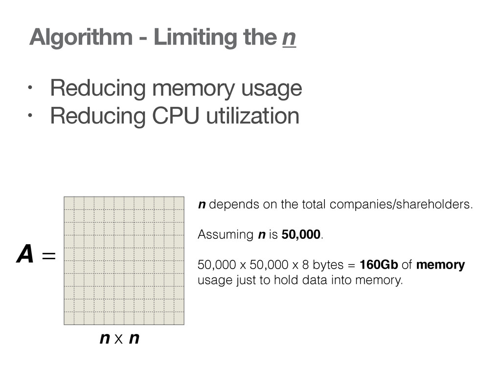 Algorithm - Limiting the n • Reducing memory us...