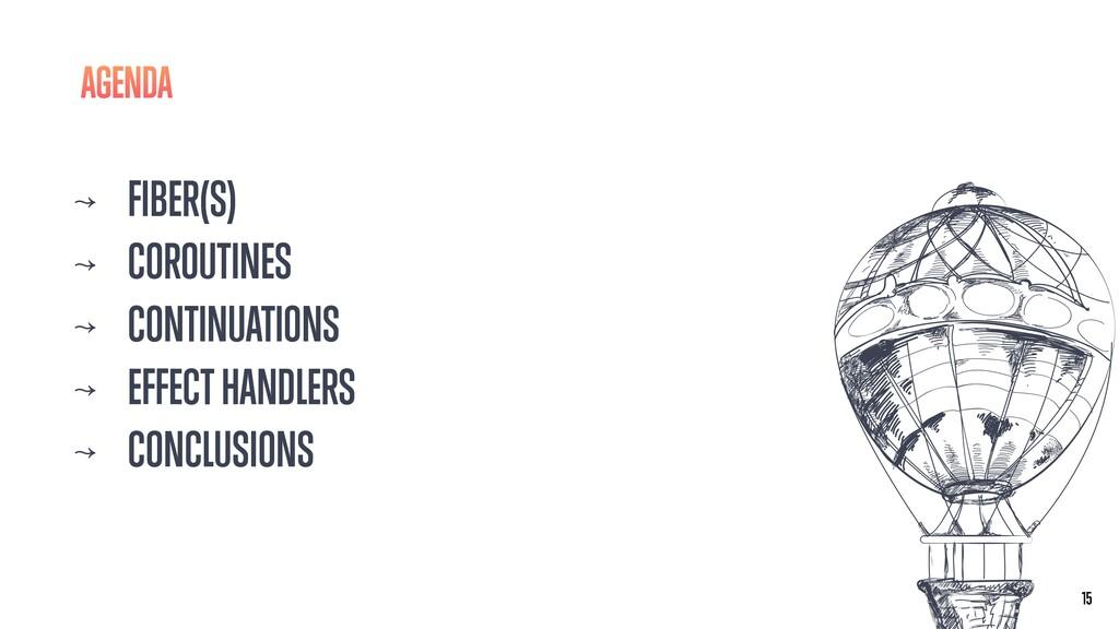 ↝ FIBER(S) ↝ COROUTINES ↝ CONTINUATIONS ↝ EFFEC...