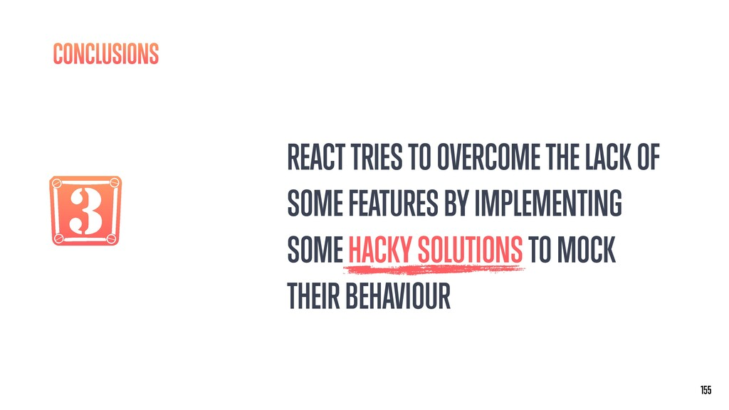 3 REACT TRIES TO OVERCOME THE LACK OF SOME FEAT...