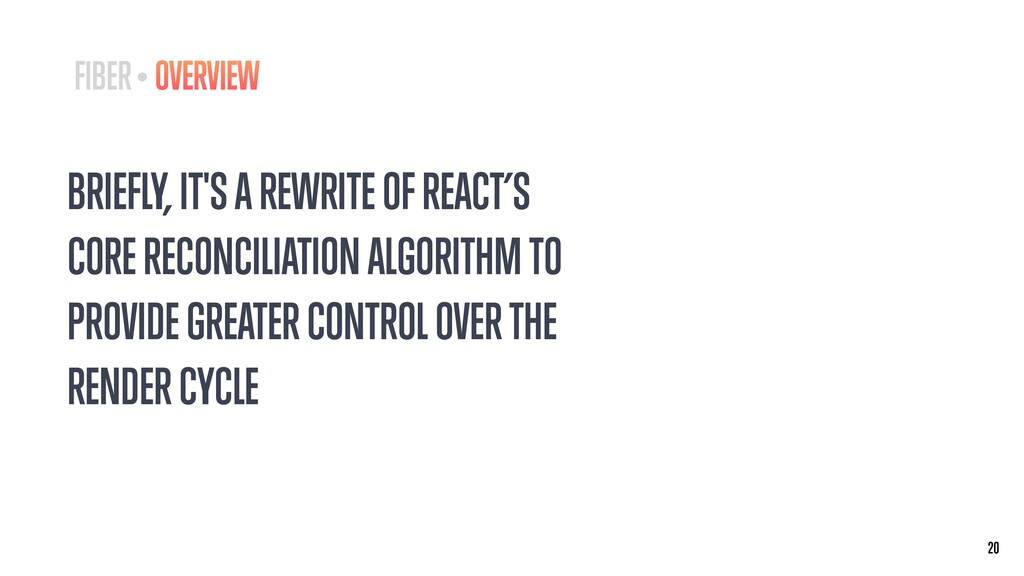 BRIEFLY, IT'S A REWRITE OF REACT'S CORE RECONCI...