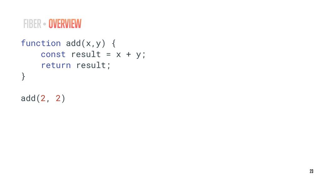 23 23 function add(x,y) { const result = x + y;...