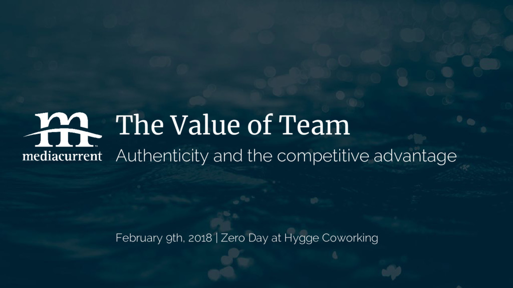 The Value of Team Authenticity and the competit...