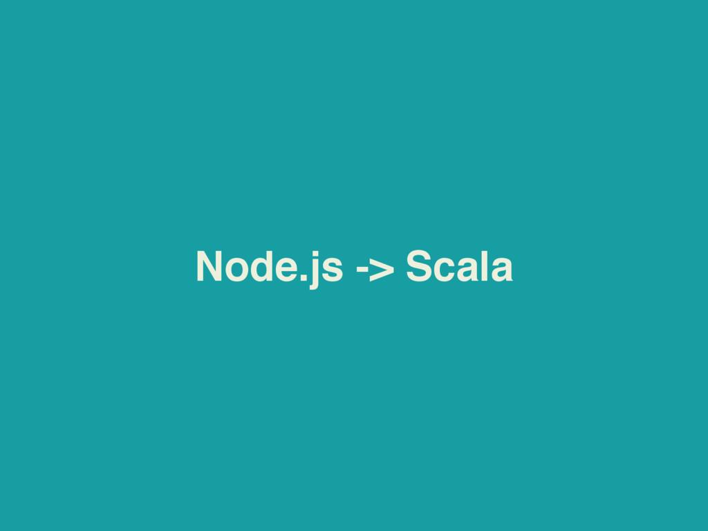 Node.js -> Scala