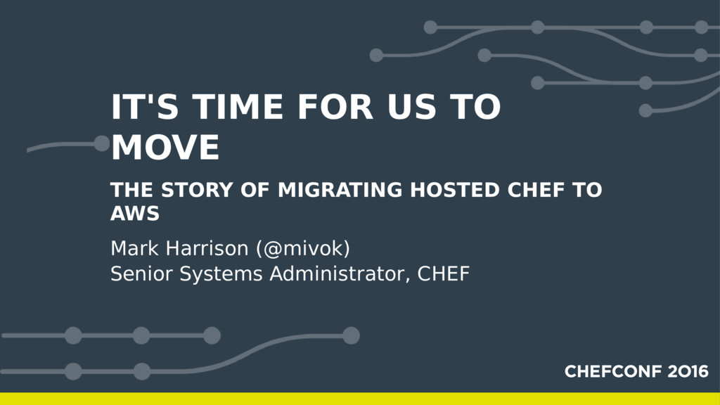 IT'S TIME FOR US TO MOVE THE STORY OF MIGRATING...