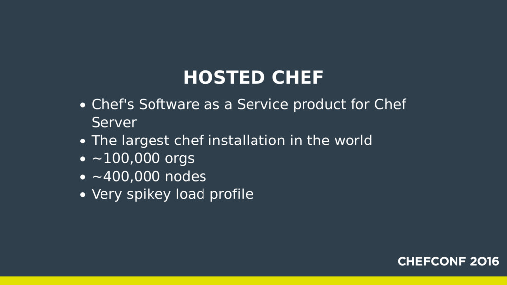 HOSTED CHEF Chef's Software as a Service produc...
