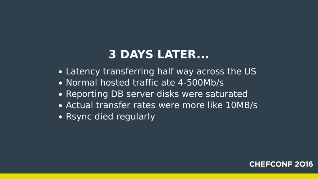 3 DAYS LATER... Latency transferring half way a...