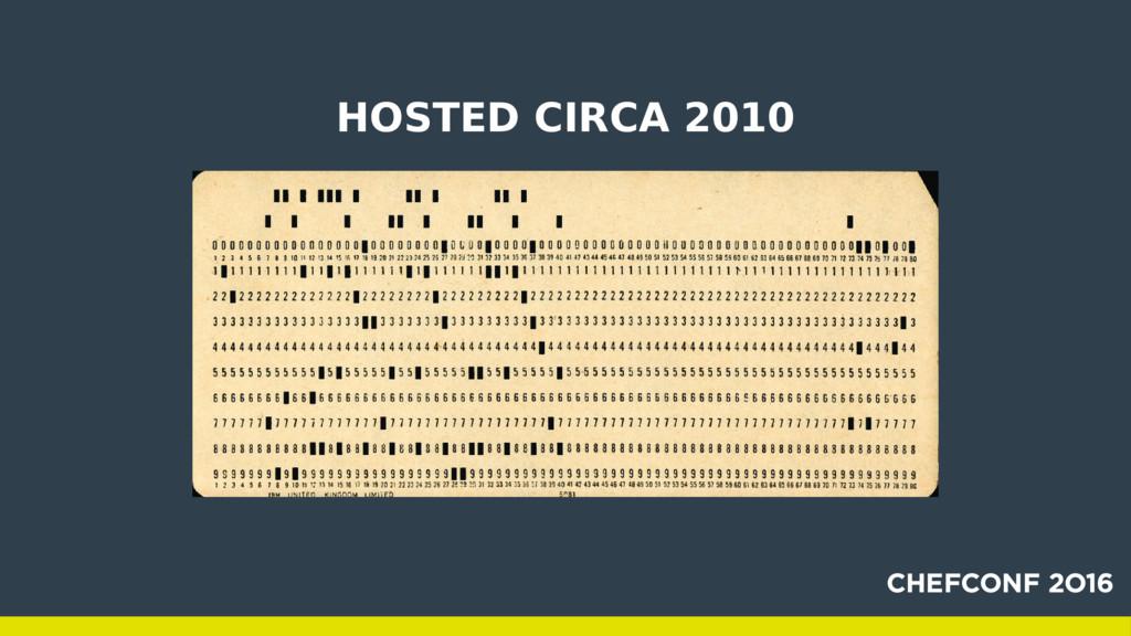 HOSTED CIRCA 2010