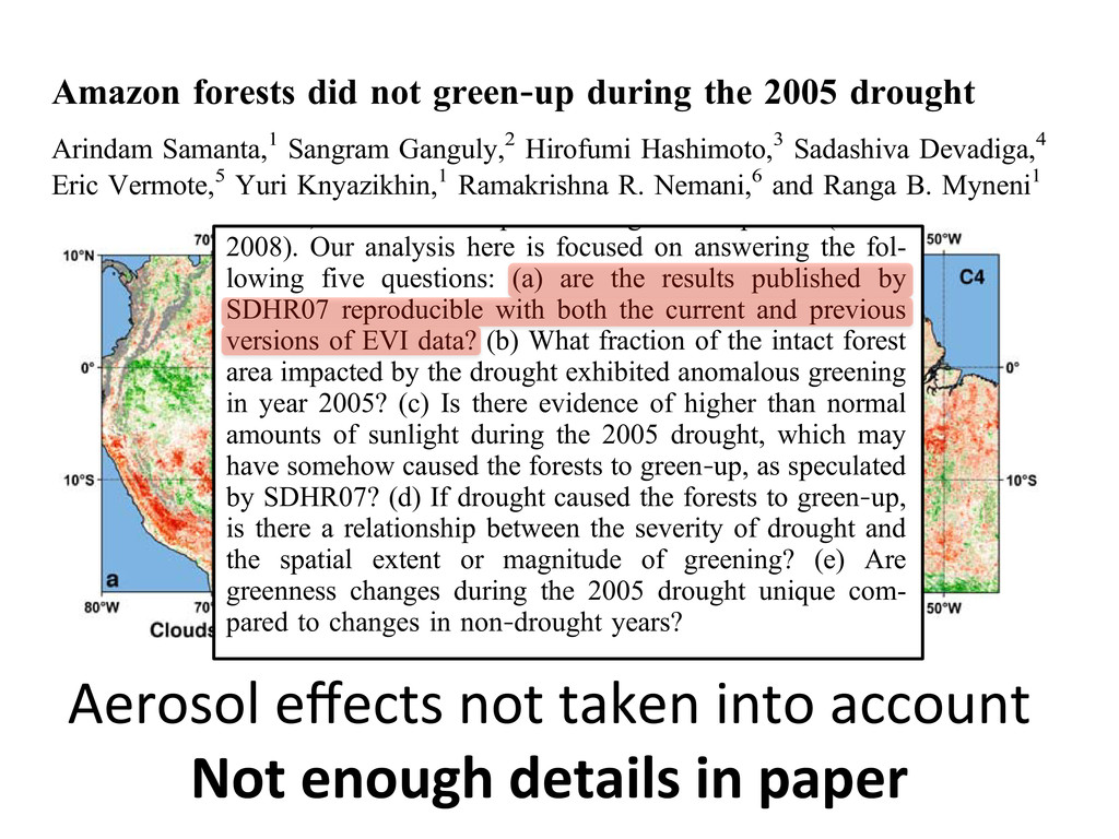 Article Amazon forests did not green‐up during ...