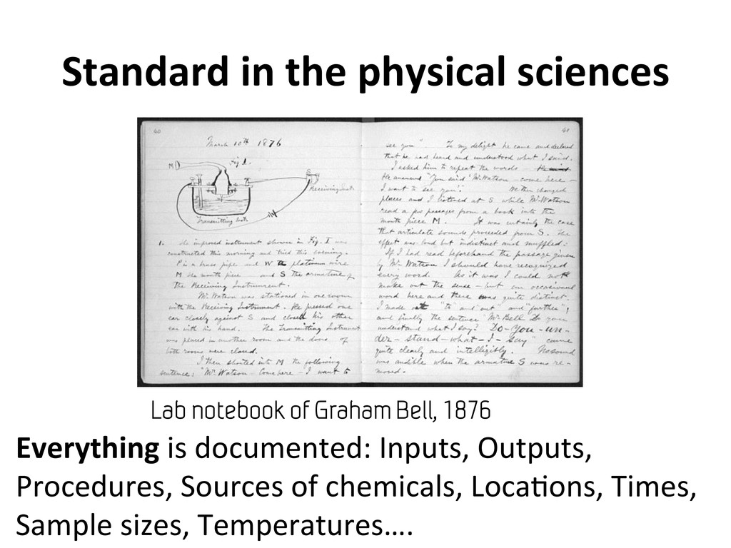 Standard in the physical sciences...