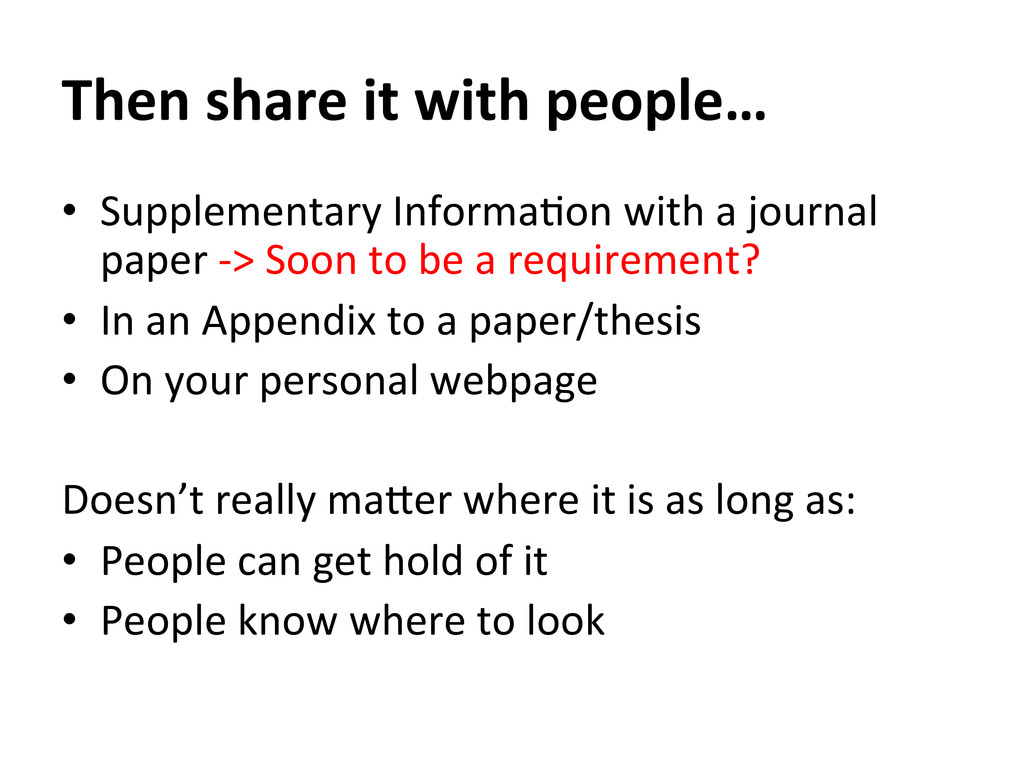 Then share it with people…   ...