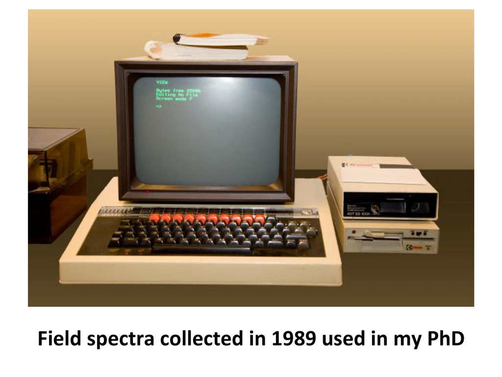 Field spectra collected in 1989 ...