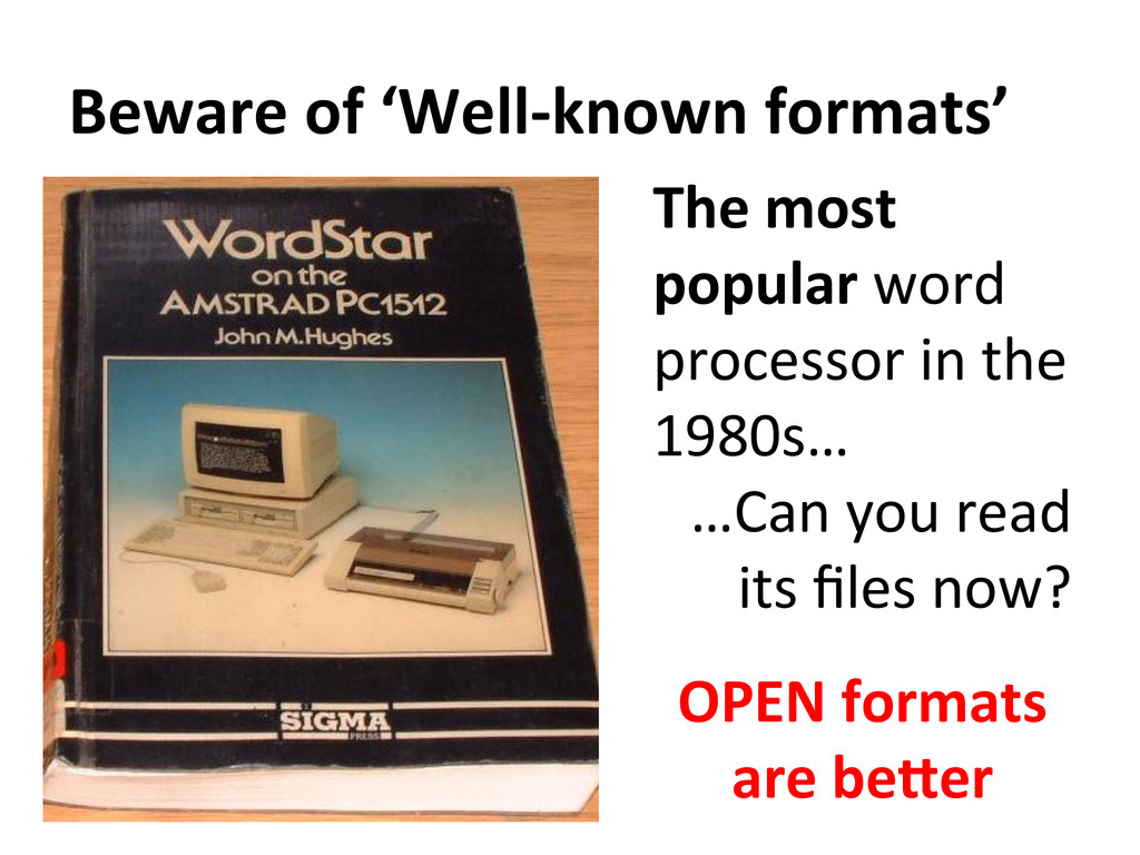 Beware of 'Well-‐known formats'  T...