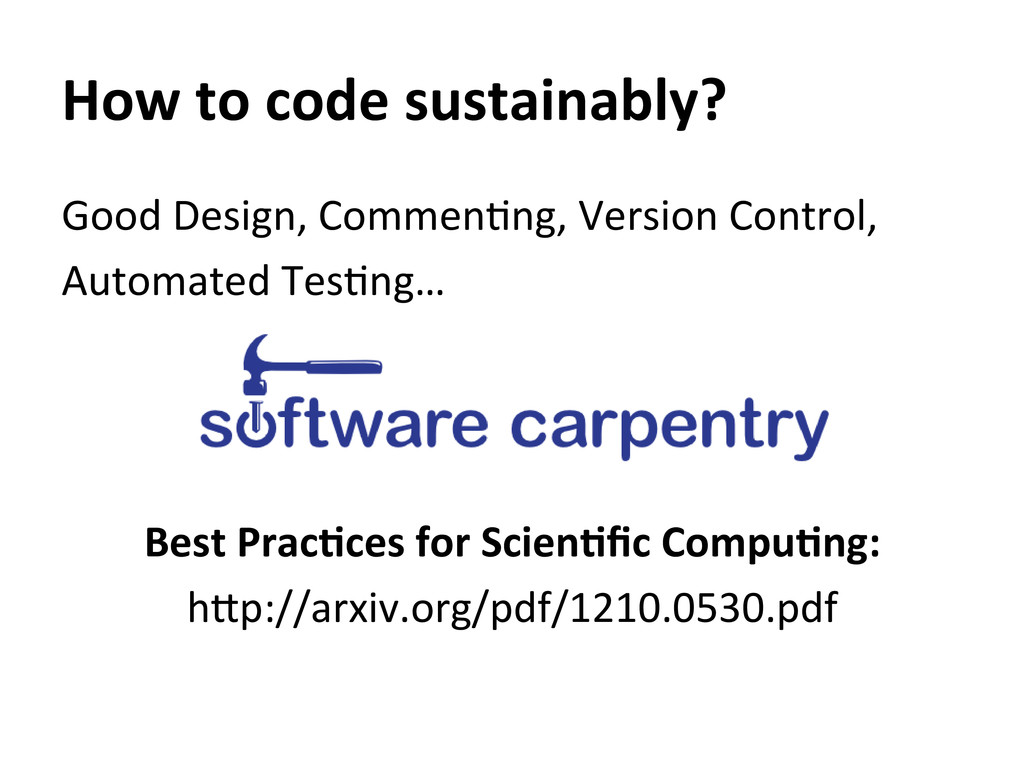 How to code sustainably?  Good D...