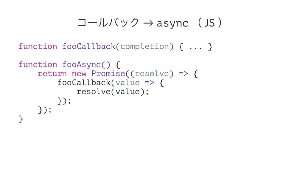 ίʔϧόοΫ → async ʢ JS ʣ function fooCallback(comp...