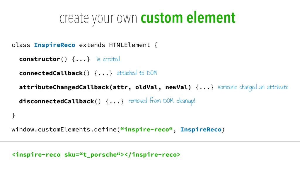 class InspireReco extends HTMLElement {   const...