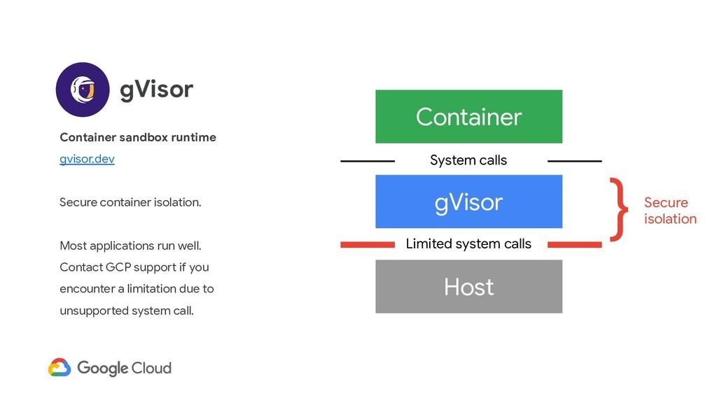 gVisor Container sandbox runtime gvisor.dev Sec...