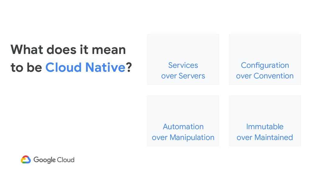What does it mean to be Cloud Native? Services ...