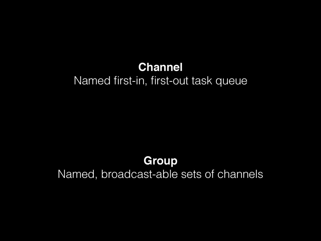 Channel Named first-in, first-out task queue Grou...