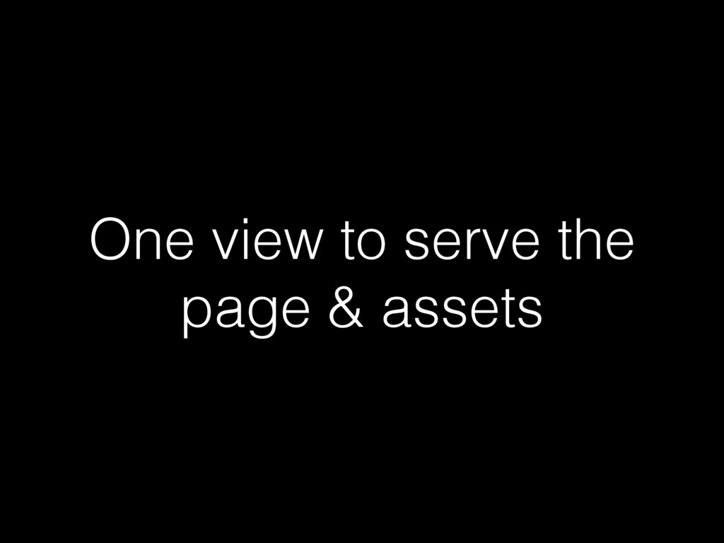 One view to serve the page & assets