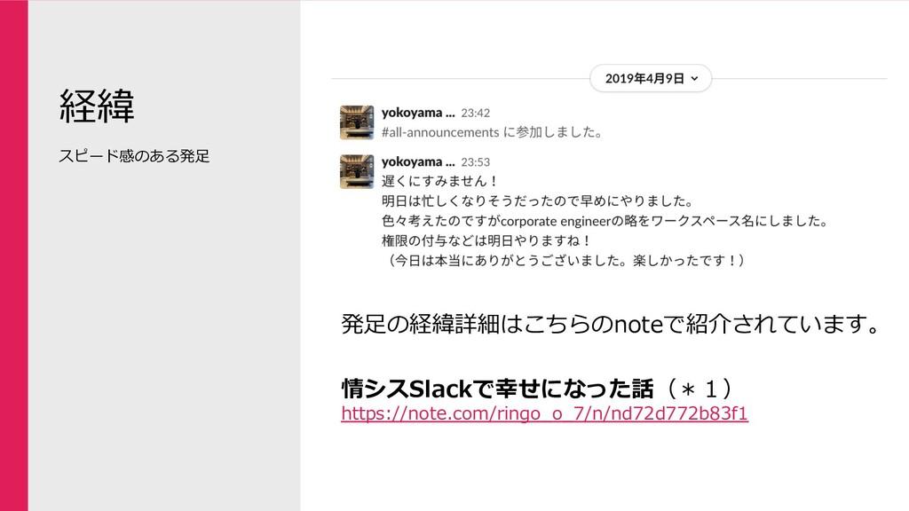 経緯 発⾜の経緯詳細はこちらのnoteで紹介されています。 情シスSlackで幸せになった話(...