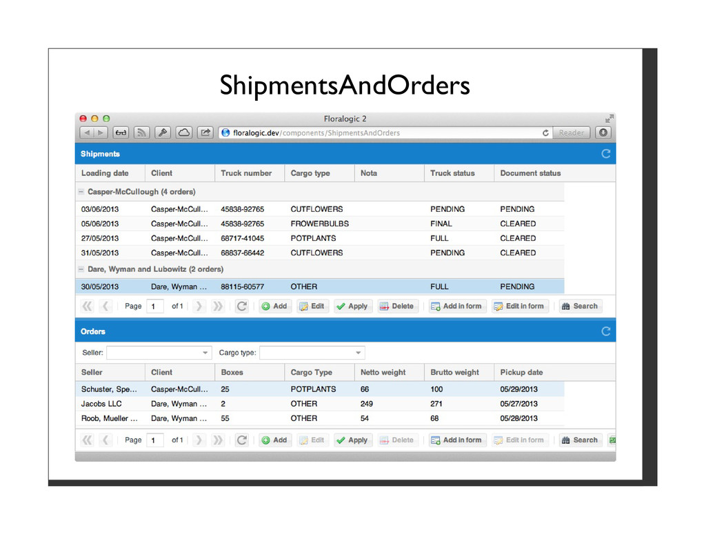 ShipmentsAndOrders