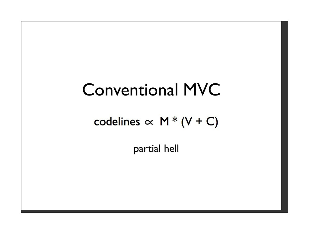 Conventional MVC partial hell