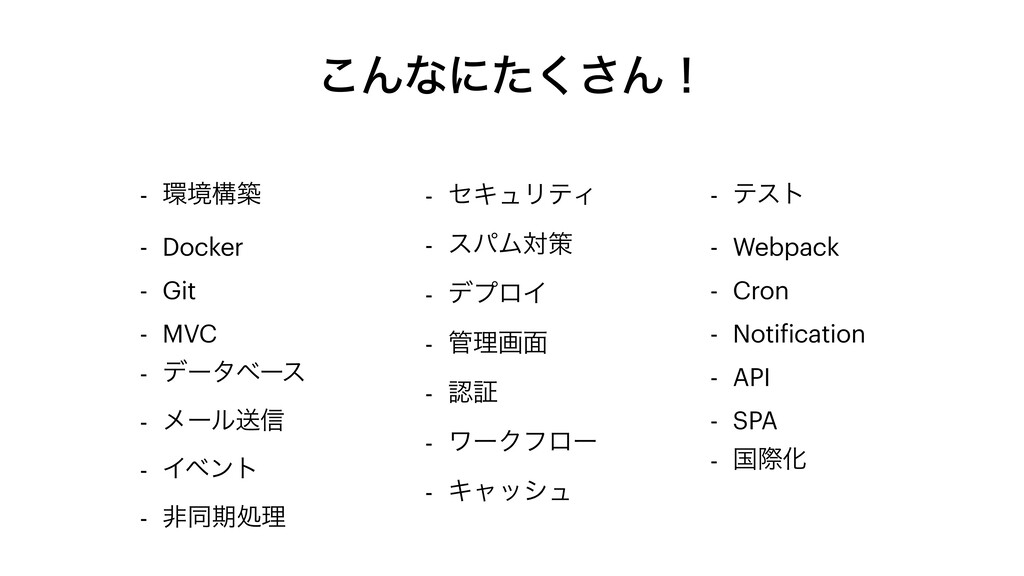 ͜Μͳʹͨ͘͞Μʂ - ڥߏங - Docker - Git - MVC - σʔλϕʔε ...