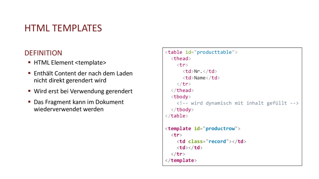HTML TEMPLATES DEFINITION § HTML Element <templ...