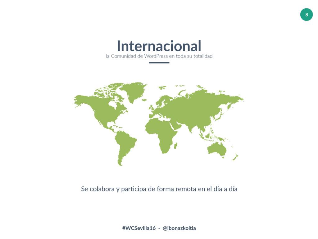 #WCSevilla16 - @ibonazkoitia 8 Internacional la...